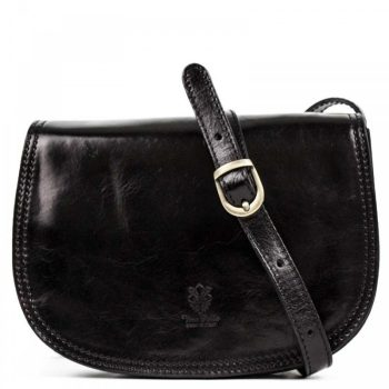 Black Over The Shoulder Leather Purse For Women - Marco4