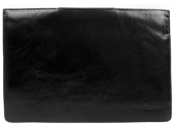 Black Real Leather Laptop Sleeve3