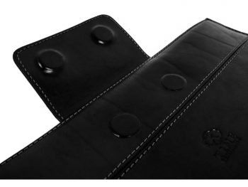 Black Real Leather Laptop Sleeve4