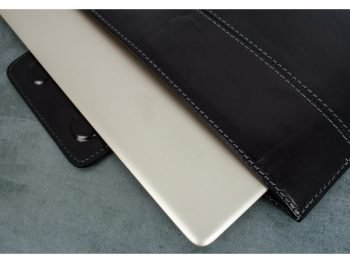 Black Real Leather Laptop Sleeve6