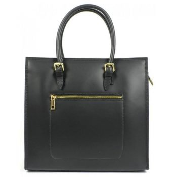 Black Strict And Elegant Form Tote Bag - Fina