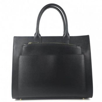 Black Two In One Spacious Leather Purse - Ernesta