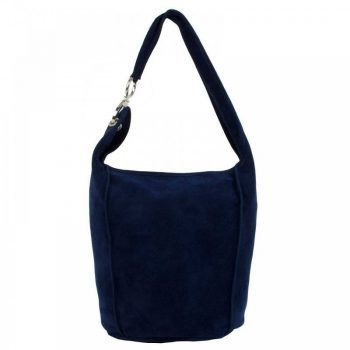 Blue Chamois Leather Women's Purse - Berta