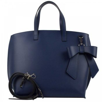 Blue Elegant Leather Purse - Miriam