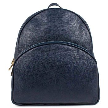 Blue Leather Backpack For Women - Melisa