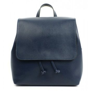 Blue Saffiano Leather Stylish Backpack - Paola