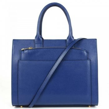 Blue Two In One Spacious Leather Purse - Ernesta