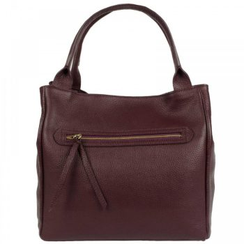 Bordeaux Leather Purse For Women - Alvise