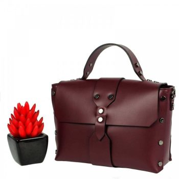 Bordeaux Mini Leather Purse - Aurora1