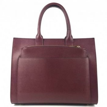 Bordeaux Two In One Spacious Leather Purse - Ernesta