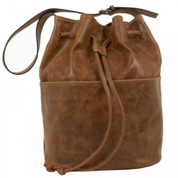 Brown Aged Leather Purse - Waomi