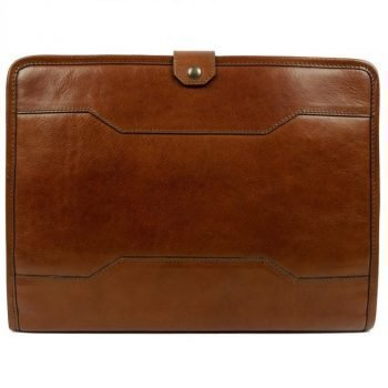 Brown Full Grain Leather Organizer - The Call of the Wild