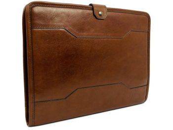 Brown Full Grain Leather Organizer - The Call of the Wild1