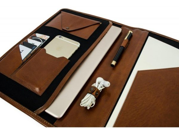 Brown Full Grain Leather Organizer - The Call of the Wild10