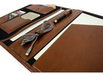 Brown Full Grain Leather Organizer - The Call of the Wild11