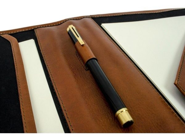 Brown Full Grain Leather Organizer - The Call of the Wild13