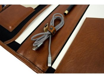 Brown Full Grain Leather Organizer - The Call of the Wild15