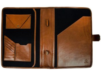 Brown Full Grain Leather Organizer - The Call of the Wild4