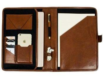 Brown Full Grain Leather Organizer - The Call of the Wild5