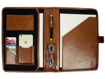 Brown Full Grain Leather Organizer - The Call of the Wild7