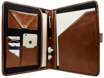 Brown Full Grain Leather Organizer - The Call of the Wild8