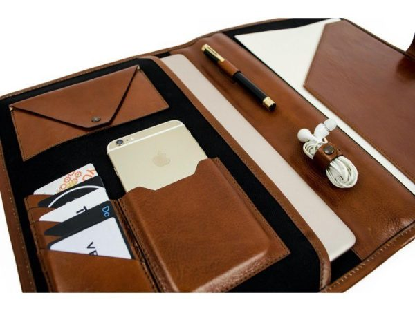 Brown Full Grain Leather Organizer - The Call of the Wild9