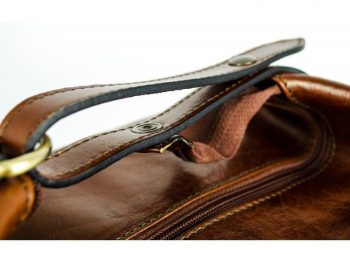 Brown Genuine Leather Toiletry Bag - Autumn Leaves10