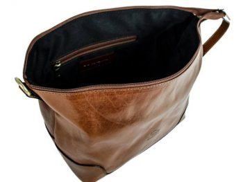 Brown Genuine Leather Toiletry Bag - Autumn Leaves7