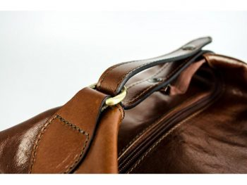 Brown Genuine Leather Toiletry Bag - Autumn Leaves8