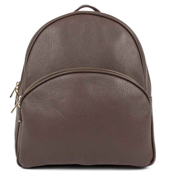 Brown Leather Backpack For Women - Melisa