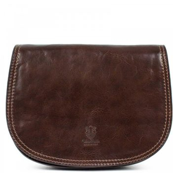 Brown Over The Shoulder Leather Purse For Women - Marco