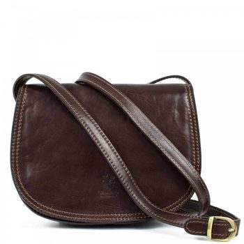 Brown Over The Shoulder Leather Purse For Women - Marco1