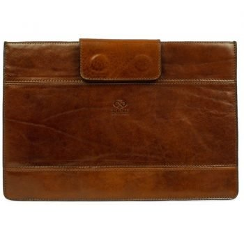 Brown Real Leather Laptop Sleeve