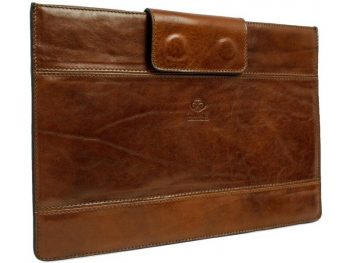Brown Real Leather Laptop Sleeve2
