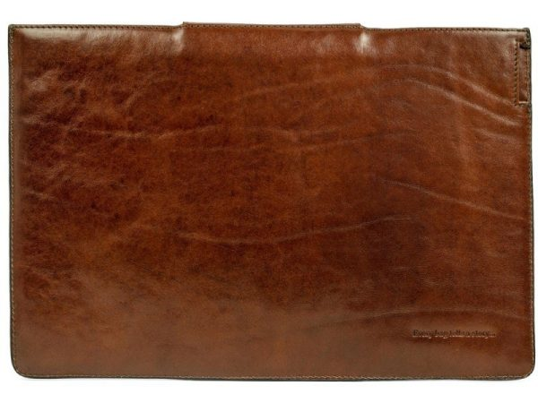 Brown Real Leather Laptop Sleeve3