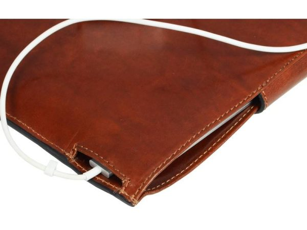 Brown Real Leather Laptop Sleeve5