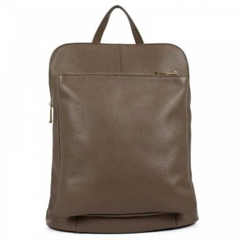 Brownish Comfortable Leather Backpack - Renata