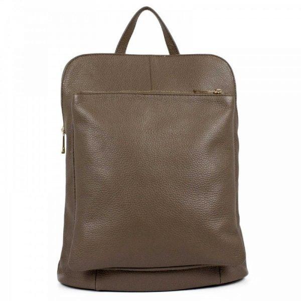 Brownish Comfortable Leather Backpack - Renata