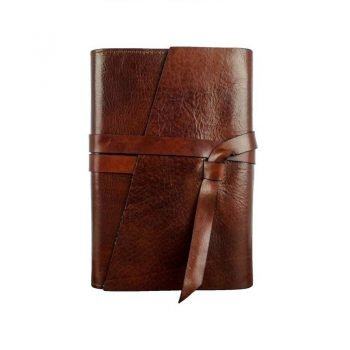 Dark Brown Ageless Leather Journal - I Love You