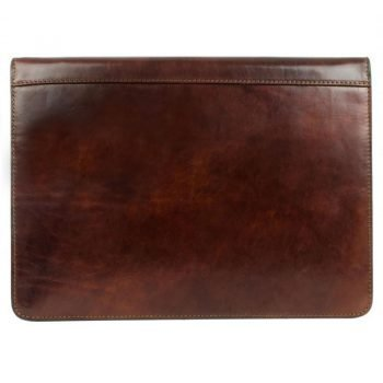 Dark Brown Classic Leather Document Folder - Candide