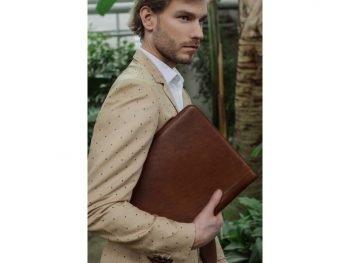 Dark Brown Classic Leather Document Folder - Candide1