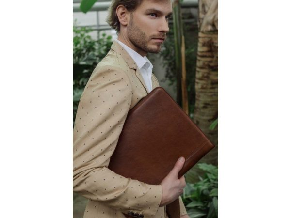 Dark Brown Classic Leather Document Folder - Candide1