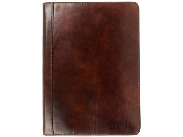Dark Brown Classic Leather Document Folder - Candide3