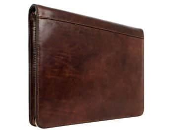 Dark Brown Classic Leather Document Folder - Candide4
