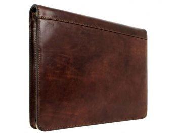 Dark Brown Classic Leather Document Folder - Candide4