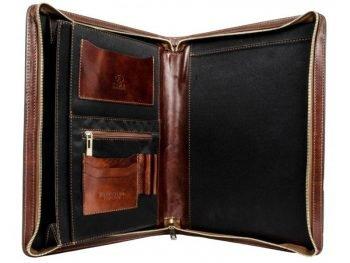 Dark Brown Classic Leather Document Folder - Candide5
