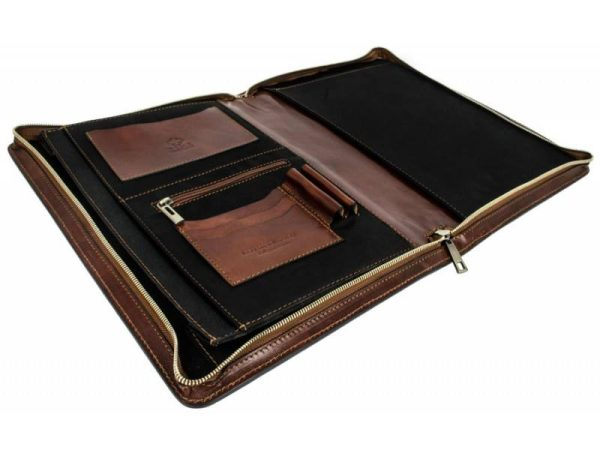 Dark Brown Classic Leather Document Folder - Candide7