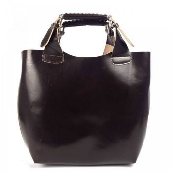 Dark Brown Elegant Leather Purse For Women - Felisa