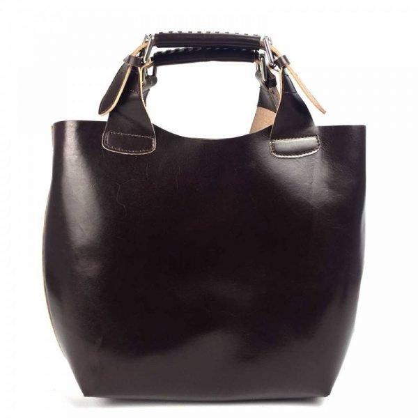 Dark Brown Elegant Leather Purse For Women - Felisa