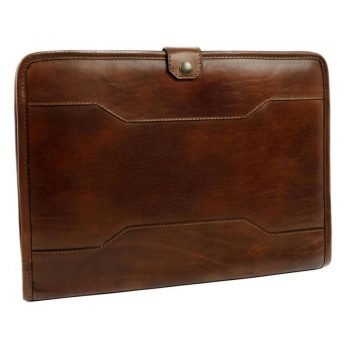 Dark Brown Full Grain Leather Organizer - The Call of the Wild
